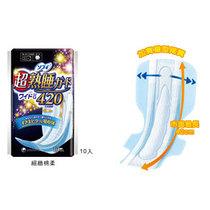 台湾代购 日本进口 SOFY苏菲弹力贴身超熟睡卫生棉卫生巾42CM10片 价格:44.90