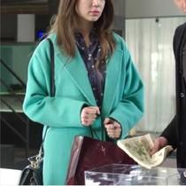 韩国abbyrona韩版修身气质毛呢外套秋冬新款中长款呢子大衣 价格:299.00