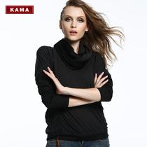 KAMA 卡玛秋季女装 条纹拼接时尚百搭显瘦长袖休闲T恤 7312563 价格:39.00