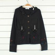伊*锦原单avv女式春秋款卫衣多口袋 薄款 无包边 连帽卫衣外套/E3 价格:19.90