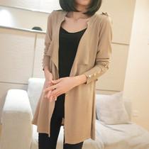 开衫针织衫2013秋装新款韩版修身如曼卡中长款外套宽松毛衣开衫女 价格:88.00