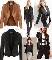 欧美女士披肩款偏羊皮外套胖mm进口PU皮衣柔软薄款大码皮夹克A332 价格:145.00