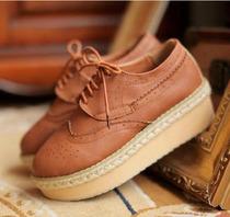 潮2013秋冬季新品™欧美英伦学院单鞋™坡跟厚底鞋™松糕鞋女单鞋 价格:59.00