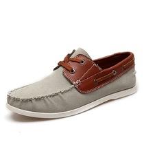 2013春款男鞋低帮鞋mring同款拼色帆船鞋帆布鞋子轻便杏色JPW1371 价格:98.00