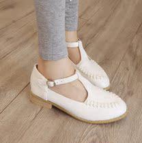 罗马风学生鞋 新品英伦风搭扣女鞋舒适低跟娃娃鞋女士圆头单鞋女 价格:39.80