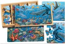 精美无比 美国shure 高端 工程车 海洋 农场 木制拼图玩具5款选 1 价格:55.00