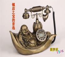 包邮 时尚创意 仿古电话机 欧式田园复古电话 玉佛家庭座机电话机 价格:228.00