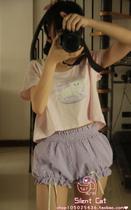 【店主实拍】amo日本原宿软妹 lolita格子南瓜裤丝带短裤 价格:39.00