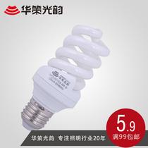 华策光韵 特价三基色 全螺旋节能灯泡E14/E27政府补贴5W-24W 黄光 价格:7.20