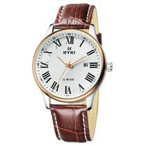 艾奇正品手表男士皮带男表防水日历商务石英表韩版时尚大表盘手表 价格:179.00
