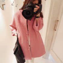 2013新款秋冬装呢子大衣毛呢外套中长女装毛呢大衣韩版羊绒呢大衣 价格:188.00