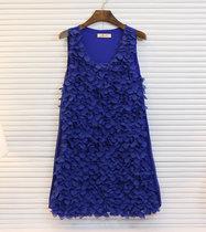 小香风气质仙美的花瓣立体剪裁层层花瓣雪纺背心连衣裙 C888# 价格:59.00