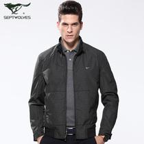七匹狼夹克 双面茄克衫 男士外套 新款秋装jacket 正品男装 2819 价格:399.00