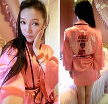 韩版睡衣性感夜店女装秋装长袖开衫气质名媛睡袍浴袍新款秋款潮品 价格:48.00