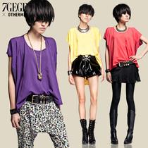 七格格OTHERMIX新款宽松版蝙蝠袖拼接短袖T恤 女3MA2268X 价格:109.50