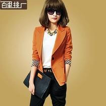 新款小西装 韩版修身显瘦中长款长袖薄西服秋季女西装外套大码潮 价格:132.00