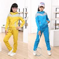 童装女大童2013新款秋装潮套装儿童全棉波点连帽休闲运动服两件套 价格:120.00