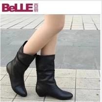 2013新款秋冬女靴欧美真皮短靴正品坡跟马丁靴低跟短靴女靴包邮 价格:175.00