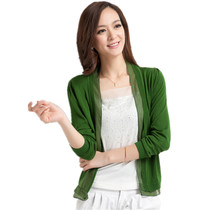 哥弟2013秋装新款女装羊毛针织开衫荷边叶长袖开衫韩版修身空调衫 价格:60.00