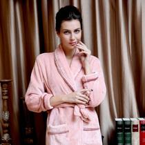 翠菲克 加厚珊瑚绒浴袍 情侣法兰绒睡袍睡衣 高贵男女款浴衣 价格:59.00