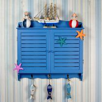 新晴地中海风格蓝色百叶窗款电表箱遮挡箱 配电箱电表盒装饰箱 价格:92.00