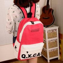 包邮撞色书包中学生双肩包女 背包韩版潮流学院风可爱休闲帆布包 价格:49.00