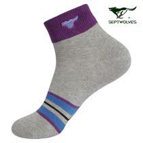 新品上市 七匹狼袜子 男士运动吸湿排汗抗菌防臭棉袜子 5双礼盒装 价格:75.00