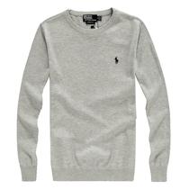 秋装新品保罗男装Polo长袖圆领毛衣男士套头打底纯棉针织衫线衫 价格:88.00