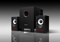金河田(GoldenField)Q1 2.1多媒体音箱台式电脑2.1低音炮喇叭音响 价格:89.00