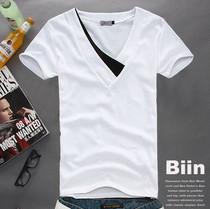 2013新款潮牌白色短袖t恤男士个性韩版夏装青少年上衣服潮男T衫�� 价格:39.00