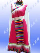 加长毛边藏族服装少数民族舞蹈服装演出服装藏族女装藏服特价 价格:48.00