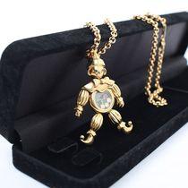 镇店之宝 萧邦 chopard小丑 绝版 6彩宝石  黄金项链 9成新 现货 价格:95950.00