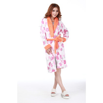 嘉莉诗正品 中长款保暖家居服中厚印花珊瑚绒女士睡袍 3080472J 价格:153.50