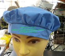 208款天蓝工作帽 纺织帽  机械工帽 厨工帽 价格:5.00