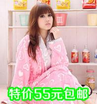睡袍特价女孩少女冬季保暖睡衣甜美可爱系绳休闲居家服浴袍包邮 价格:55.00