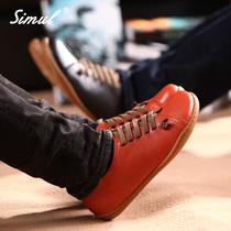 simul春季真皮男式休闲鞋 农夫鞋男士耐磨板鞋个性情侣鞋子韩版潮 价格:178.00