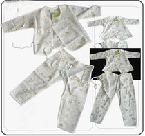 安吉小羊 32902双面布和尚系带裤宝宝内衣套装 新生儿内衣 春秋款 价格:20.50