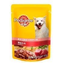 狗狗零食 宝路妙鲜包精选牛肉100g 湿粮 泰迪金毛宠物食品 软罐头 价格:3.20