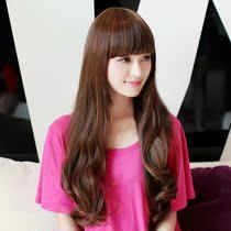 促销新款 假发 长 卷 蓬松 长卷发 齐刘海微卷 假发套实拍方圆脸 价格:88.80