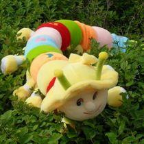 情人节 七彩毛毛虫千年虫 布娃娃 毛绒玩具 大号 公仔 毛毛虫抱枕 价格:28.00