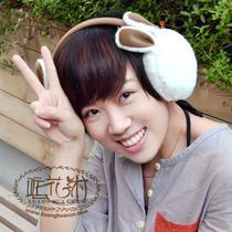 卡通男女保暖耳套超细兔毛护耳罩耳包耳捂卖萌可爱小白兔耳暖白色 价格:40.60