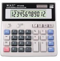 万能通 WT-200B桌面型计算器 计算机 12位数标准大液晶显示屏 价格:26.50