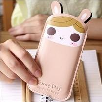包邮 韩版可爱PU皮质手机包手机套 防护套 超薄女士苹果4S手机包 价格:9.90