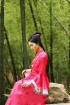 古装七仙女服装唐装汉服儿童演出服贵妃装伴娘服装精美飘逸雪纺裙 价格:90.00