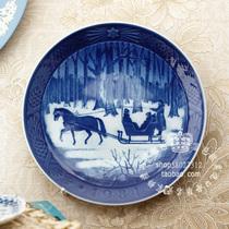 丹麦皇家哥本哈根 1984年手工彩绘 年度收藏瓷盘~圣诞叮当声 价格:455.00
