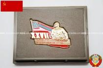 保真苏联时代格鲁吉亚共产党第27次代表大会代表证章 原盒带厂标 价格:280.00