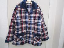 多拉美珊瑚绒夹棉男士睡衣2013新款加厚保暖格子翻领家居服D52612 价格:251.00