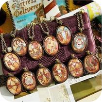满35包邮 ON0378 欧美饰品 手工项链 十二星座复古长款项链毛衣链 价格:2.80