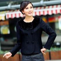 秋冬新款日韩i式妇女的短呢衣娃娃毛领少女装小外套三彩风毛呢子 价格:158.60