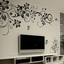 墙贴特价包邮客厅电视墙电视背景墙 墙贴纸卧室浪漫墙壁贴纸 伸展 价格:9.52